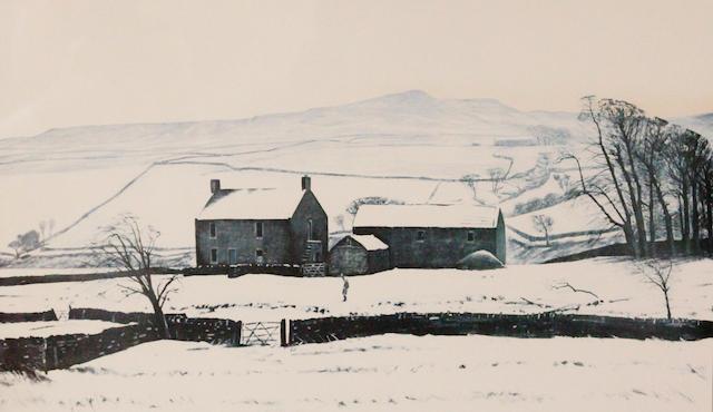 Peter Brook (British, 1927-2009) 'Hannah Hauxwell Waving Goodbye'