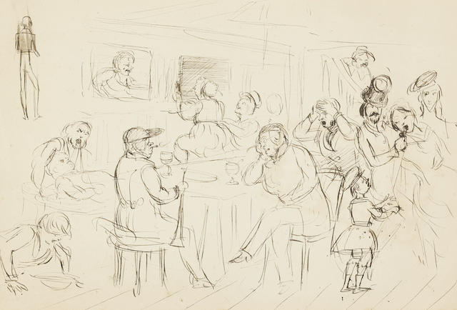 Sir John Everett Millais, PRA (British, 1829-1896) Sketch of the Lempriere family