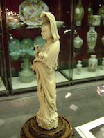 An ivory standing figure of Guanyin Late Qing Dynasty