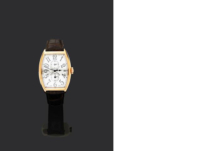 Franck Muller. A fine 18ct gold automatic dual time zone calendar wristwatch