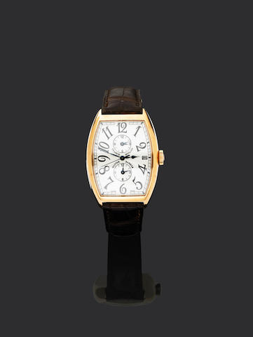 Franck Muller. A fine 18ct gold automatic dual time zone calendar wristwatch