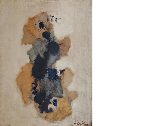 Léon Zack (1892-1980) Untitled 1958  signed and dated 58 oil on canvas  81 by 60 cm. 31 7/8 by 23 5/8 in.