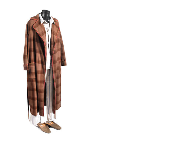 Doctor Who - Human Nature/ The Family Of Blood, 2007 David Tennant as the Tenth Doctor: The Doctors sleepwear - a pair of pyjamas and a dressing gown,
