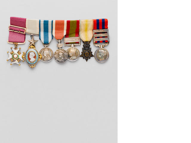The Miniature Medals to Captian H.Thurburn, Indian Army,