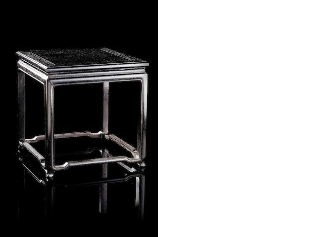 A square zitan stand Qing dynasty