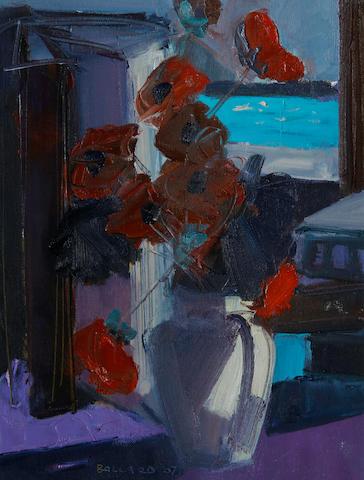 Brian Ballard (Irish, born 1943) Poppies and Sea