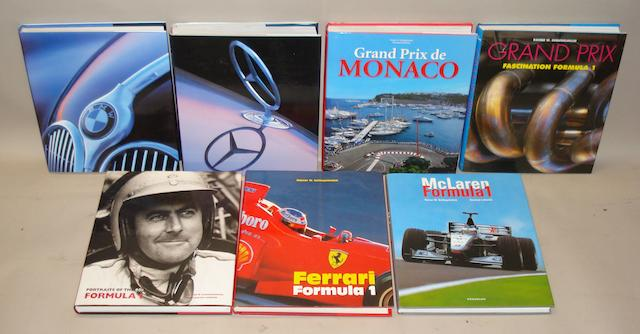 Seven large format motoring titles by Rainer W Schlegelmilch,