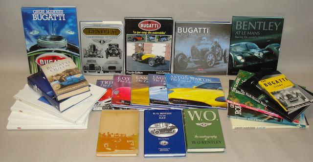 Books relating to various marques,