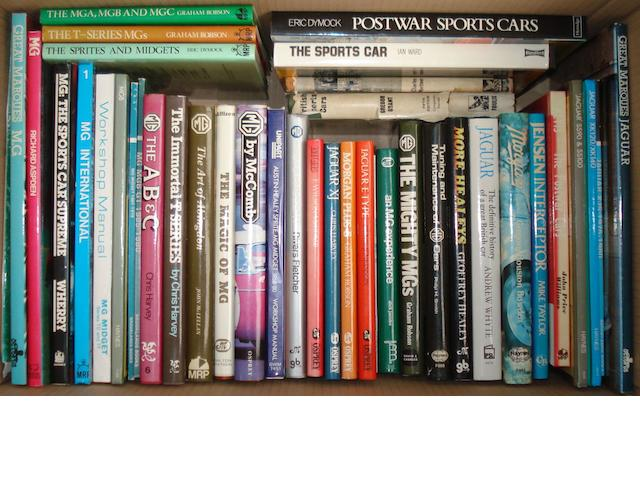 A quantity of books relating to MG and British sports cars,