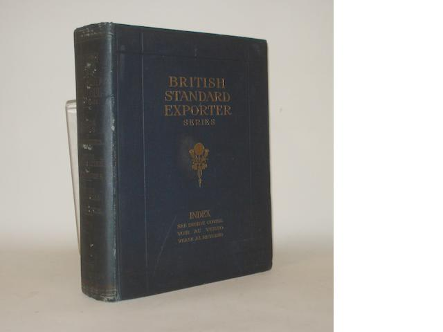 A British Standard Exporter Series Index for motorcars, motorcycles, cycles and accessories 1920-1921,