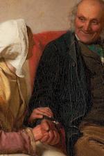 John Faed, RSA (British, 1819-1902) John Anderson My Jo 53 x 72 cm. (20 7/8 x 28 3/8 in.)