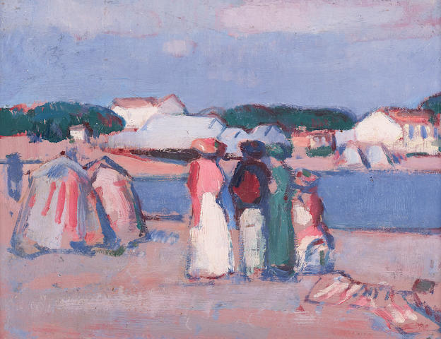 John Duncan Fergusson, RBA (British, 1874-1961) 27 x 34 cm. (10 5/8 x 13 3/8 in.)