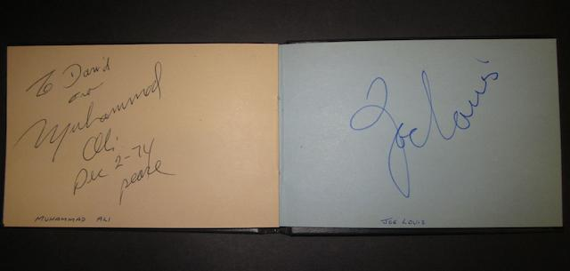 Autograph album of boxers, footballers, tv stars