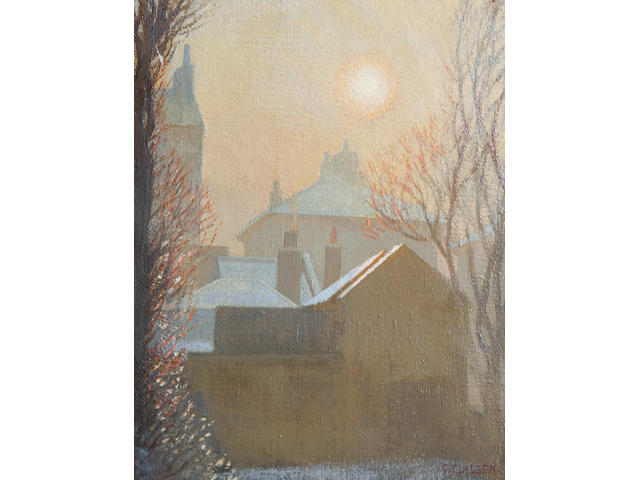 Sir George Clausen, RA, RWS (British, 1852-1944) A Winter Morning in London