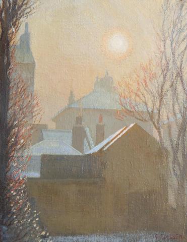 Sir George Clausen, RA, RWS (British, 1852-1944) A Winter Morning in London