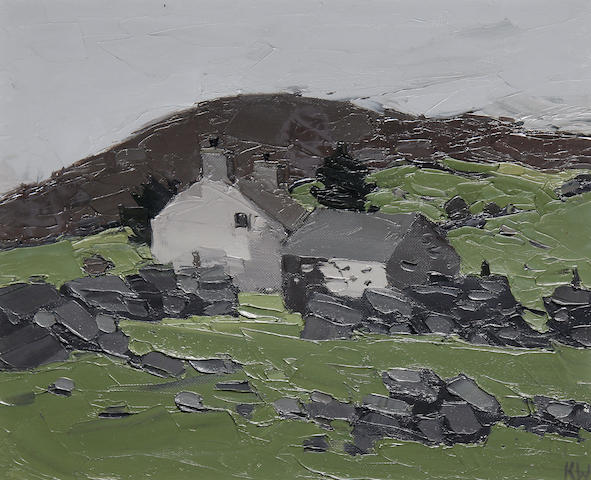 Sir Kyffin Williams R.A. (British, 1918-2006) Farm at Deniolen
