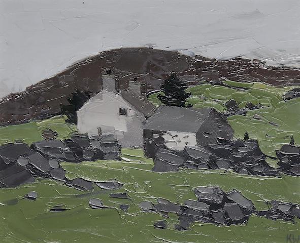 Sir Kyffin Williams R.A. (British, 1918-2006) Farm at Deniolen