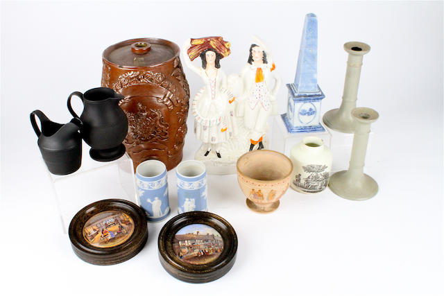 A group of pottery