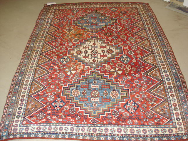 A Kashgai rug, South West Persia, 227cm x 163cm