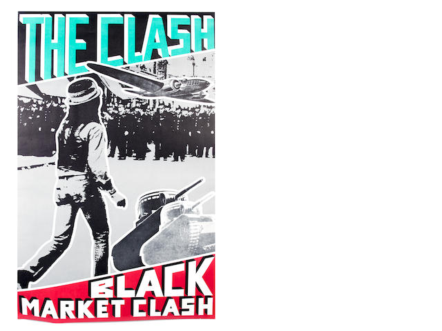 The Clash: A promotional poster for the compilation 'Black Market Clash', 1980,
