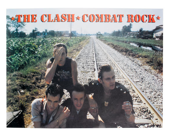 The Clash: A promotional poster for Combat Rock, 1982,