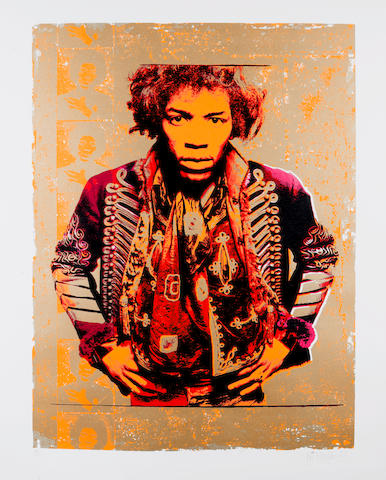 Gered Mankowitz (British, born 1946) - Jimi Hendrix,  London, 1967,
