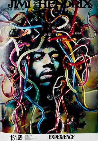 Jimi Hendrix: a concert poster, Beethovensaal, Stuttgart,