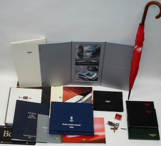 A lot of Bentley memorabilia and publications
