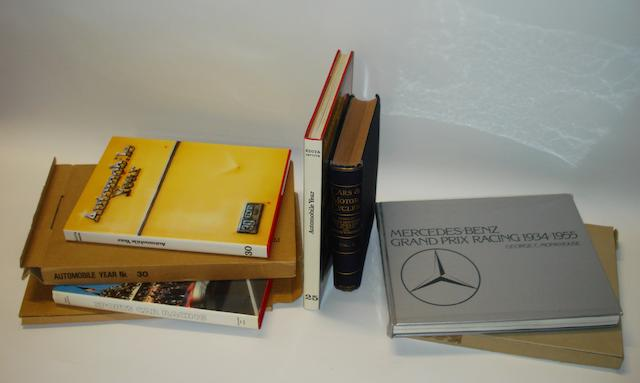 Five motoring books,