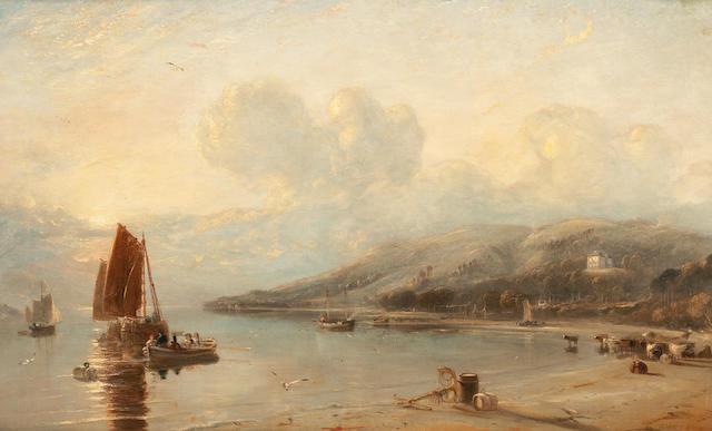 David Octavius Hill, RSA (British, 1802-1870) Gareloch 65 x 106 cm. (25 9/16 x 41 3/4 in.)