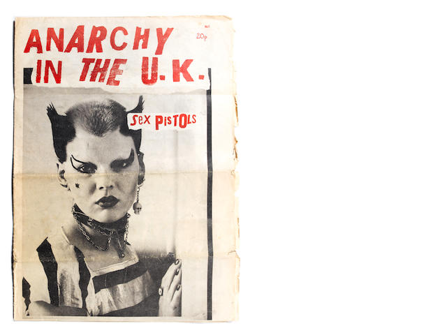 An autographed 'Anarchy In The UK' newspaper, 1976