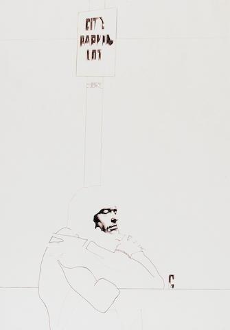 David Oxtoby (British, born 1938) - Two original drawings, 1970s,