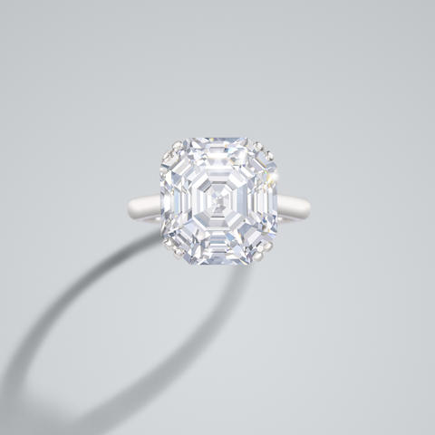 A diamond-single stone ring