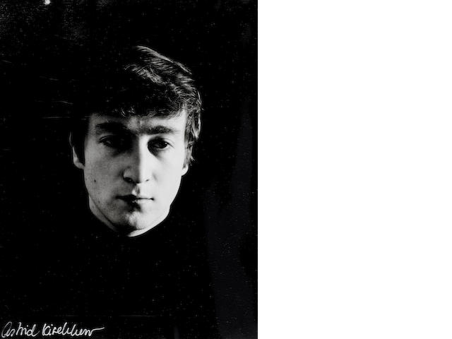 Astrid Kirchherr (German, born 1938) - A photographic portrait of John Lennon,  1962,