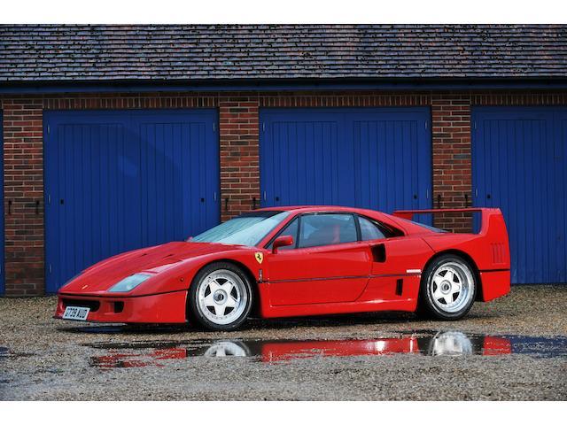 200 kilometres since total restoration,1990 Ferrari F40 Berlinetta  Chassis no. 84901