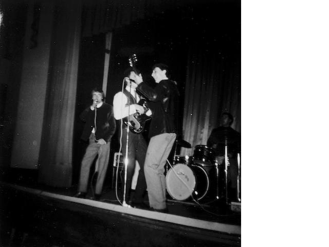 Seven unpublished photos of The Detours onstage,  circa 1963,