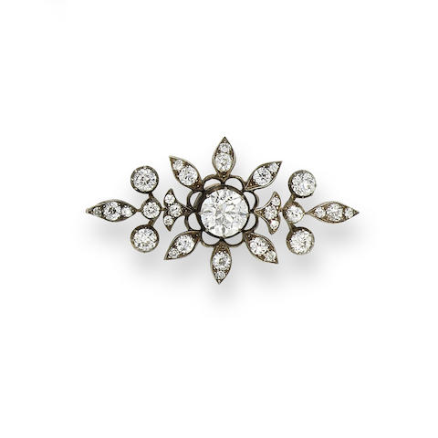 A late 19th century diamond spray brooch,