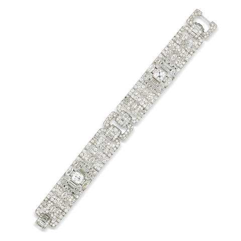 An art deco diamond bracelet, by Lacloche Frères,