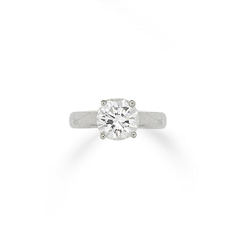 A diamond single-stone diamond ring