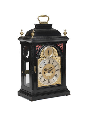 A good second quarter of the 18th century quarter repeating ebonised bracket clock Daniel and Thomas Grignion, from the Late Mr Quare, London