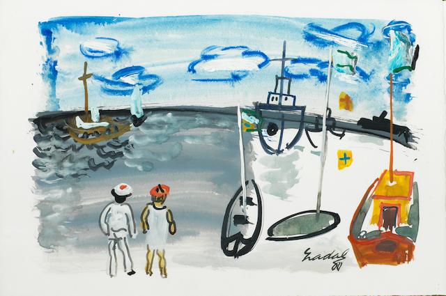 Carlos Nadal (1917-1998) Le port