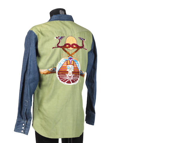 Jerry Garcia: a Nudie Cohen Company denim shirt,