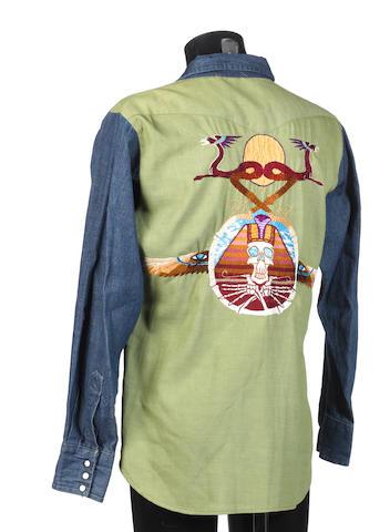 Jerry Garcia: a Nudie Cohen Company denim shirt,
