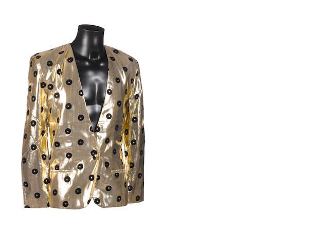 Prince: a gold 'Record' jacket,