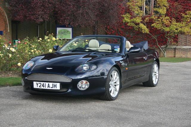 1,2001 Aston Martin DB7 Vantage Volante Convertible  Chassis no. SCFAB32391K402193
