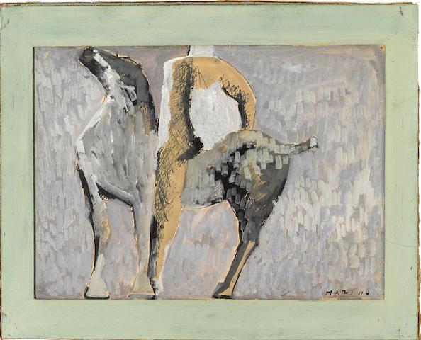 Marino Marini (Italian, 1901-1980) Cavallo e cavaliere