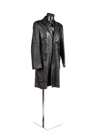 George Michael: A black leather coat worn at the 1994 MTV awards and in the 'Spinning The Wheel' video, 1996,