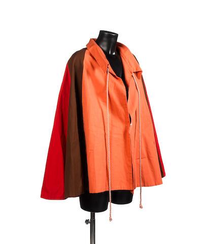'The Prisoner': a multi-coloured cape,