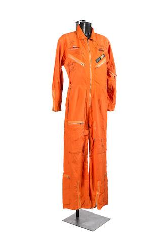 An autographed Aerosmith/Armageddon jumpsuit,