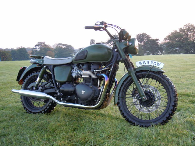 In aid of Help For Heroes & The Royal British Legion,2011 Triumph 865cc Bonneville T100 Great Escape Replica Frame no. SMTTJ9157GB469435 Engine no. 470239